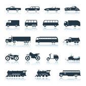 Pictogram voertuigen vector — Stockvector