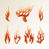 Red Flame — Stock Vector
