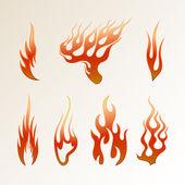 Красный пламени — Cтоковый вектор