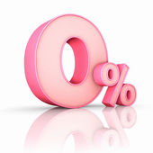 Pink Zero Percent — Stock Photo