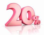 Pink Twenty Percent — Stock Photo