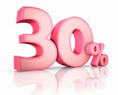 Pink Thirty Percent — Stock Photo