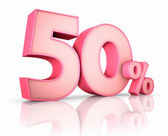 Pink Fifty Percent — Stock Photo