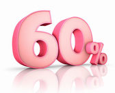 Pink Sixty Percent — Stock Photo