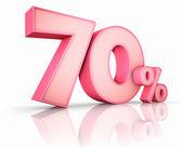 Růžový sedmdesát procent — Stock fotografie