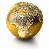 Gold Globe - Africa — Stock Photo