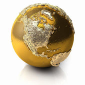 Gold Globe - North America — Stock Photo