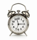 Silver Clock — Stock Photo