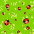 Background with lady bugs — Stock Vector #5426102