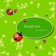 Background with lady bugs - Stock Vector