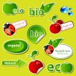 Royalty-Free Stock Vector Image: Bio sticker set