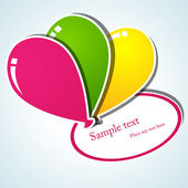 Balloon stickers — Stock Vector