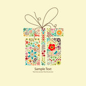 Floral gift — Stock Vector