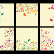 Floral background set — Vettoriali Stock