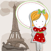 French gril — Stock Vector