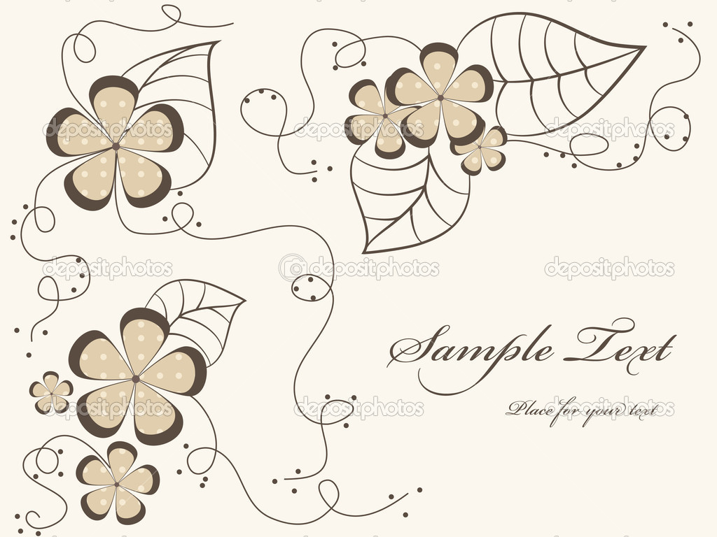 Vector floral background  — Stock Vector #5810541