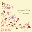 Floral greeting card — Vector de stock #6011246