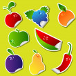 Royalty-Free Stock Vector Image: Fruit sticker set