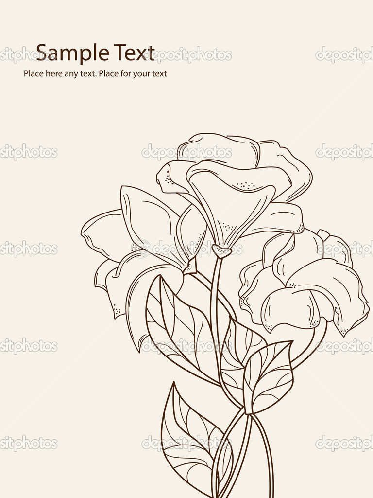Hand drawn flowers - Stock Illustration