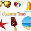 Summer icons — Vettoriali Stock