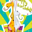 Birthday greeting card — Vettoriali Stock