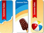 Summer set — Stock Vector