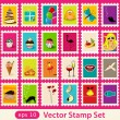 Stamps - Stock Vector