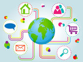 социальная сеть — Cтоковый вектор
