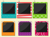 Photo frame set — Stock Vector
