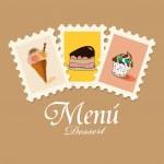 Dessertkarte — Stockvektor