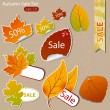 Autumn sales — Stock Vector