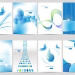 Blue brochure design — Stock Vector #6546968