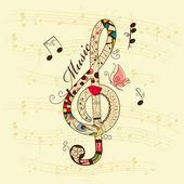 Musikalisk bakgrund — Stockvektor
