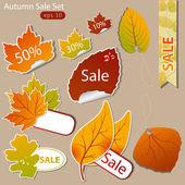 Autumn sales — Stock Vector