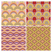 Set of seamless ethnic background — Stock Vector