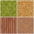 Set of seamless textures — Stock Vector