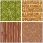 Set of seamless textures — Stock Vector #5468019
