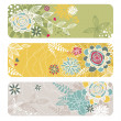 Abstract floral banners - Stock Vector