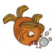 Strange vector fish — Stock Vector