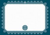 Vektör boş sertifika — Stok Vektör