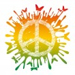 Hippie peace symbol — Stock Vector #6084340
