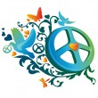 Hippie peace symbol — Stock Vector #6084342