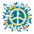Stock Vector: Hippie peace symbol