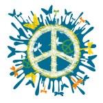 Hippie peace symbol — Stock Vector