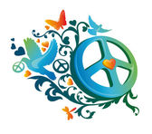 Hippie peace symbol — Stock Vector