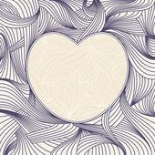 Lovely heart frame — Stock Vector