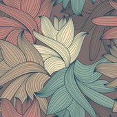 Decorative seamless pattern — Wektor stockowy