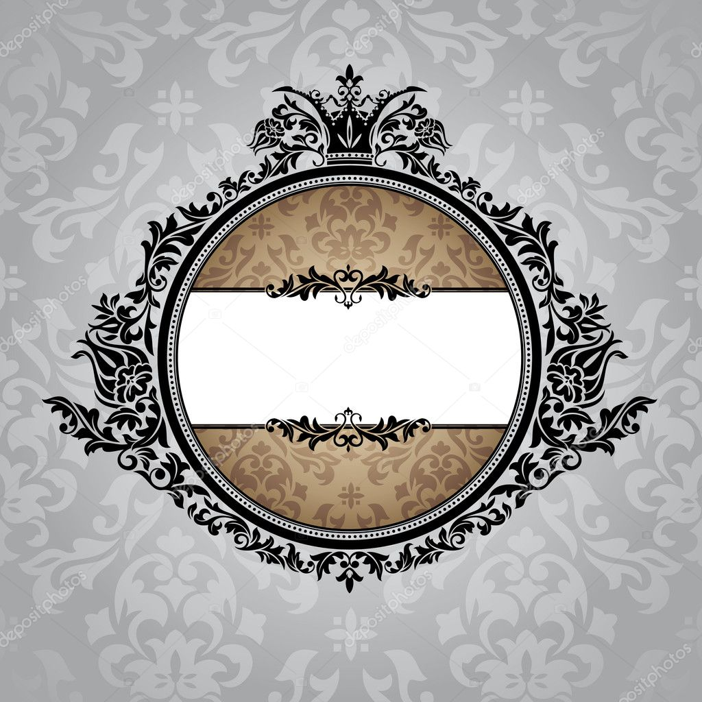 Abstract royal ornate vintage frame vector illustration — Stock Vector #6200922