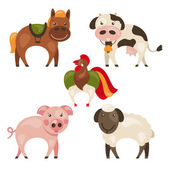 Set of farm animals — Stock Vector