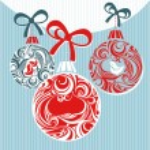 Christmas decorative card — Stock Vector